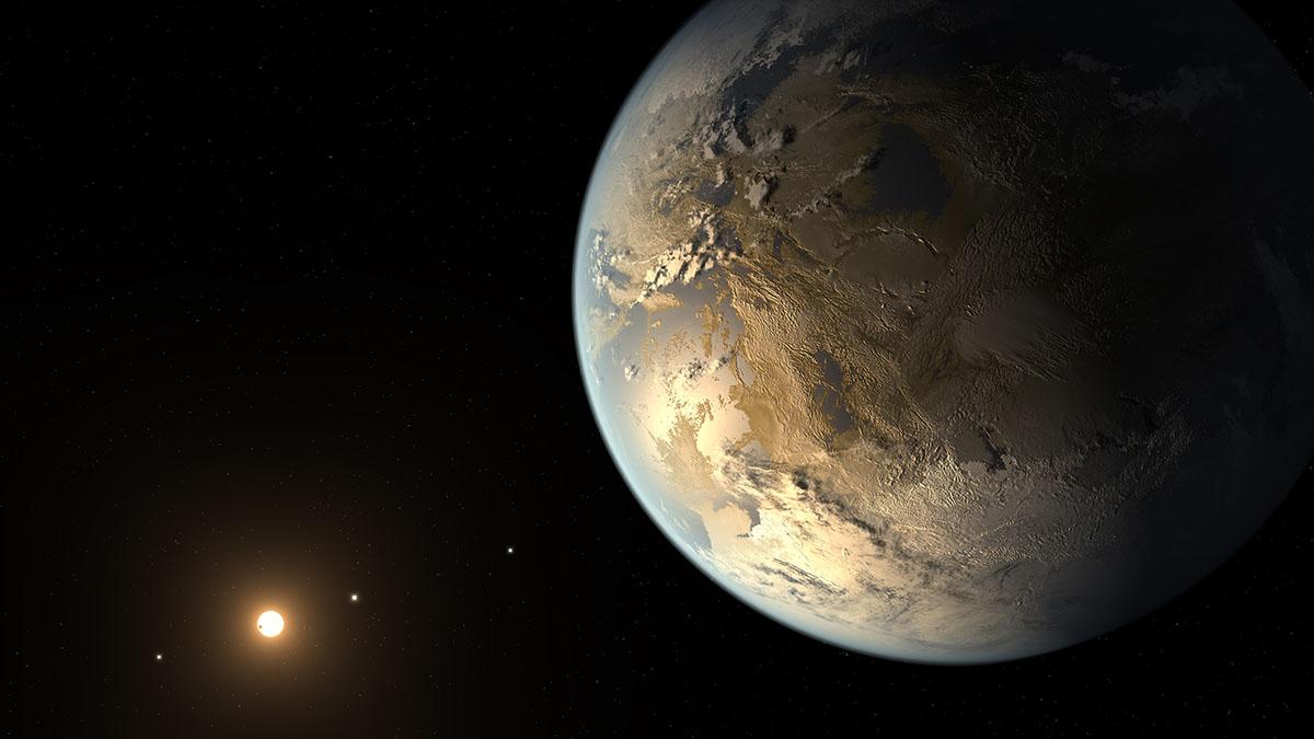 alien planet with oceans