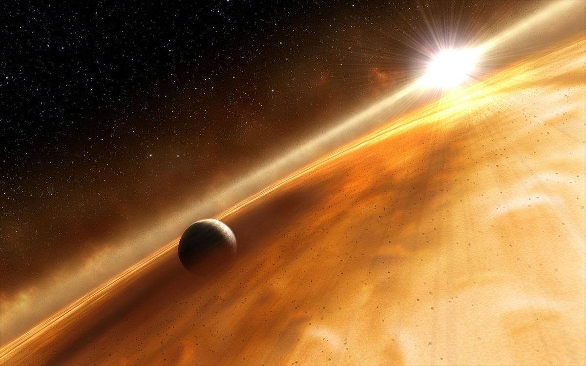bright protoplanetary debris