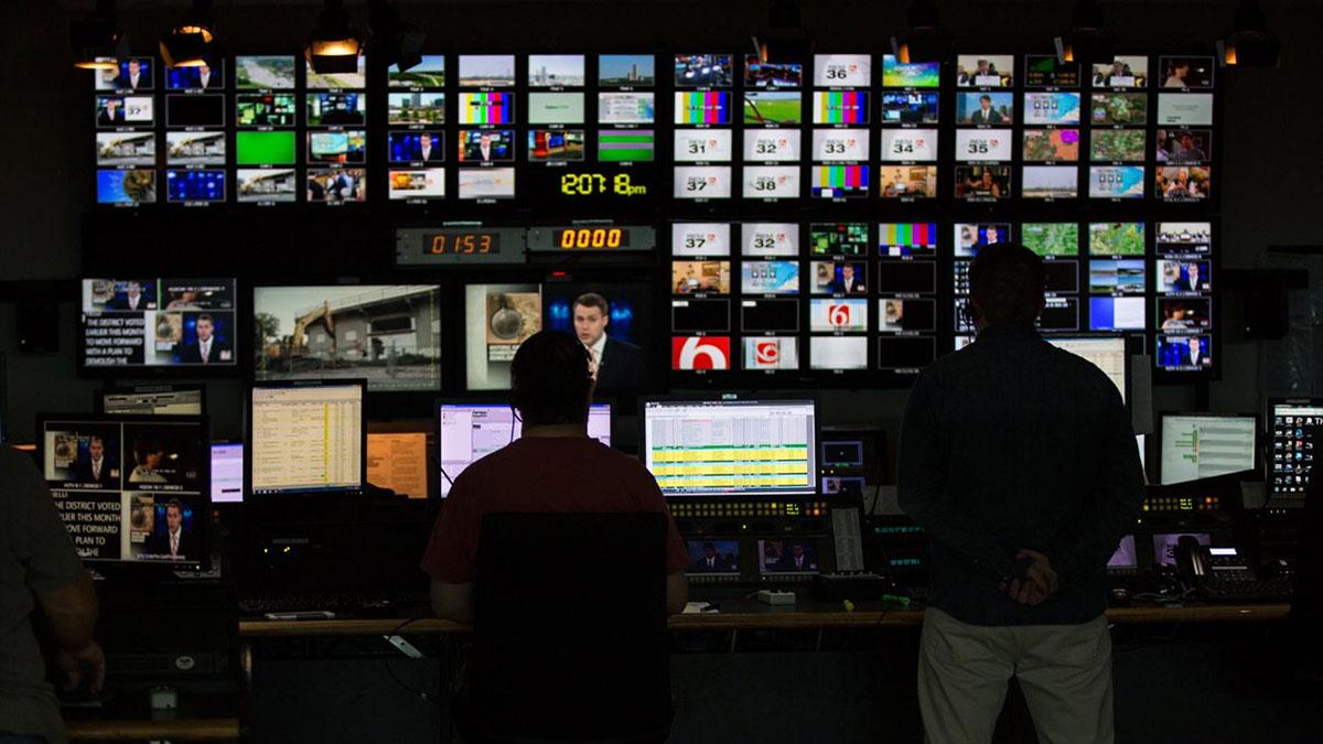 broadcast media room