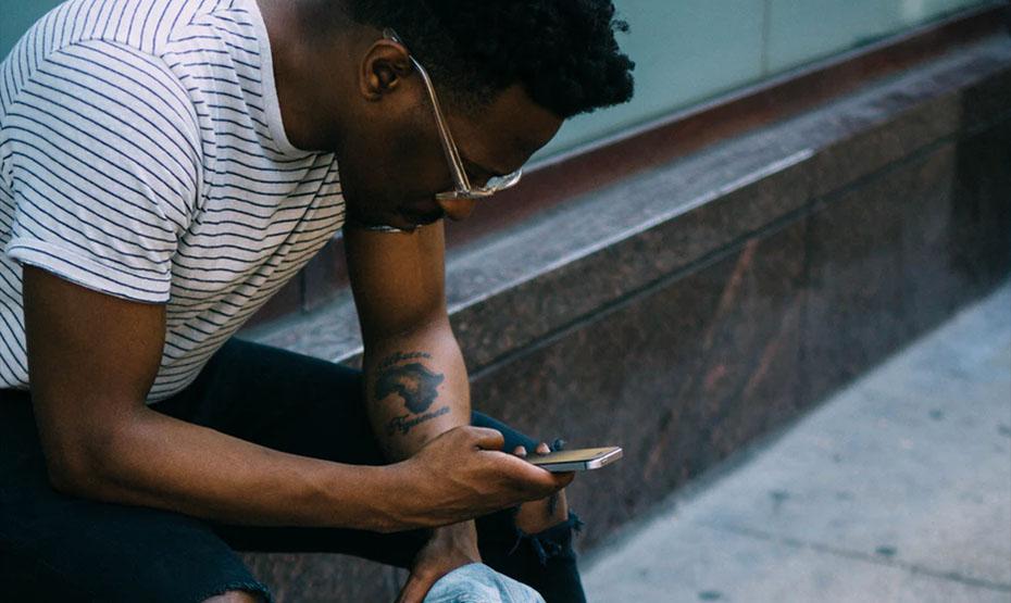 checking phone