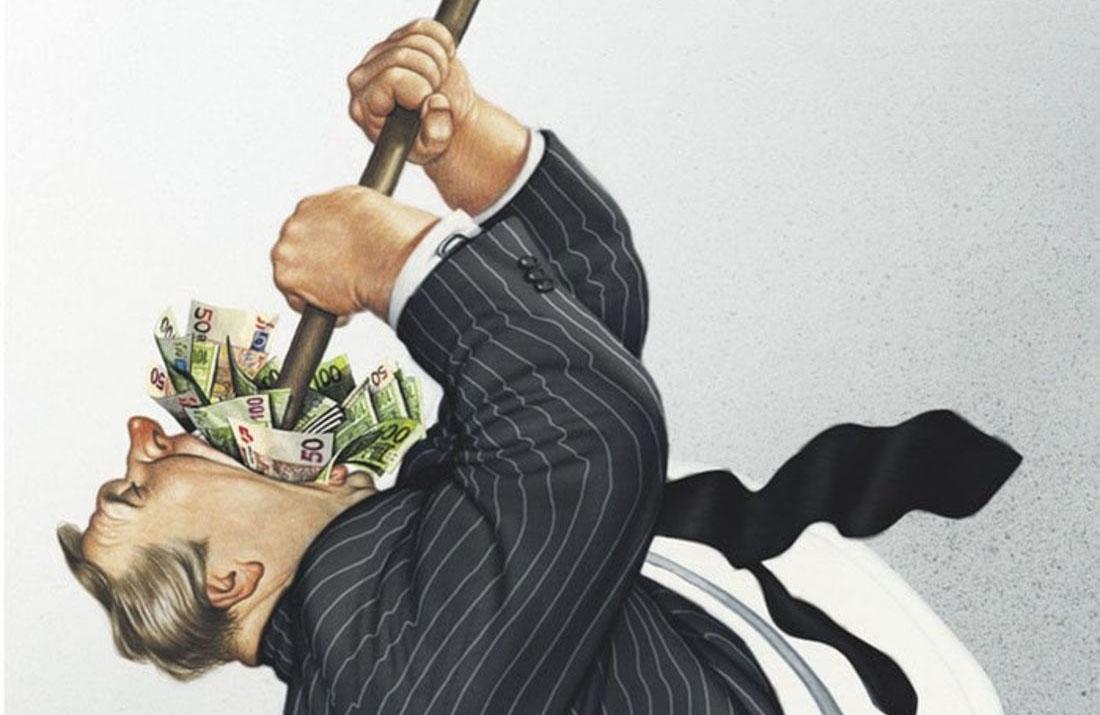 choking on greed
