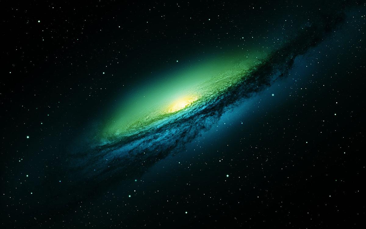 dark green galaxy render