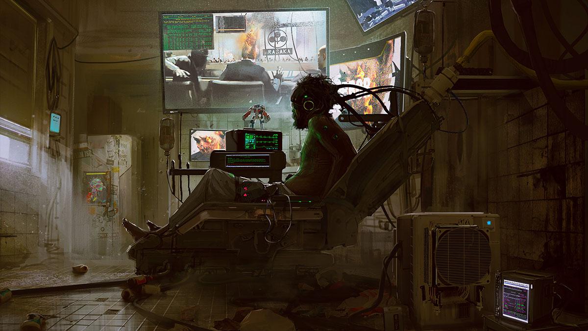 cyberpunk hideout