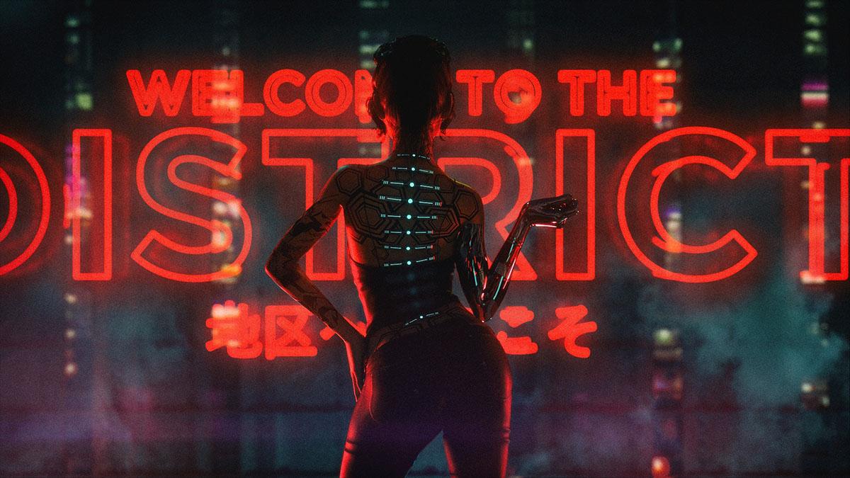 cyberpunk neon