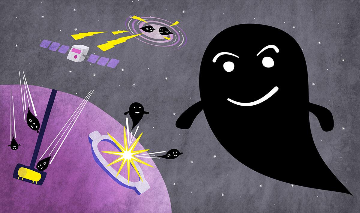dark matter cartoon