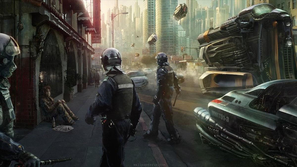 dystopian police