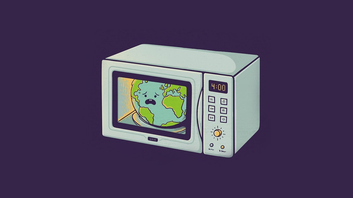 earth in microwave