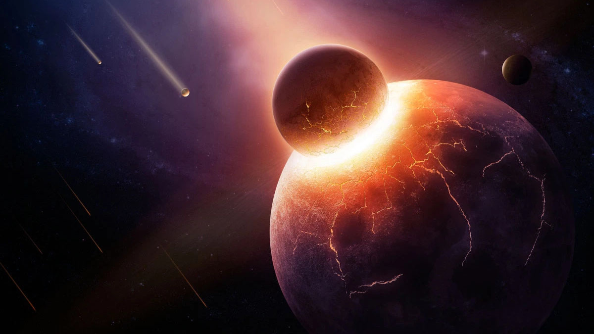 earth thea collision