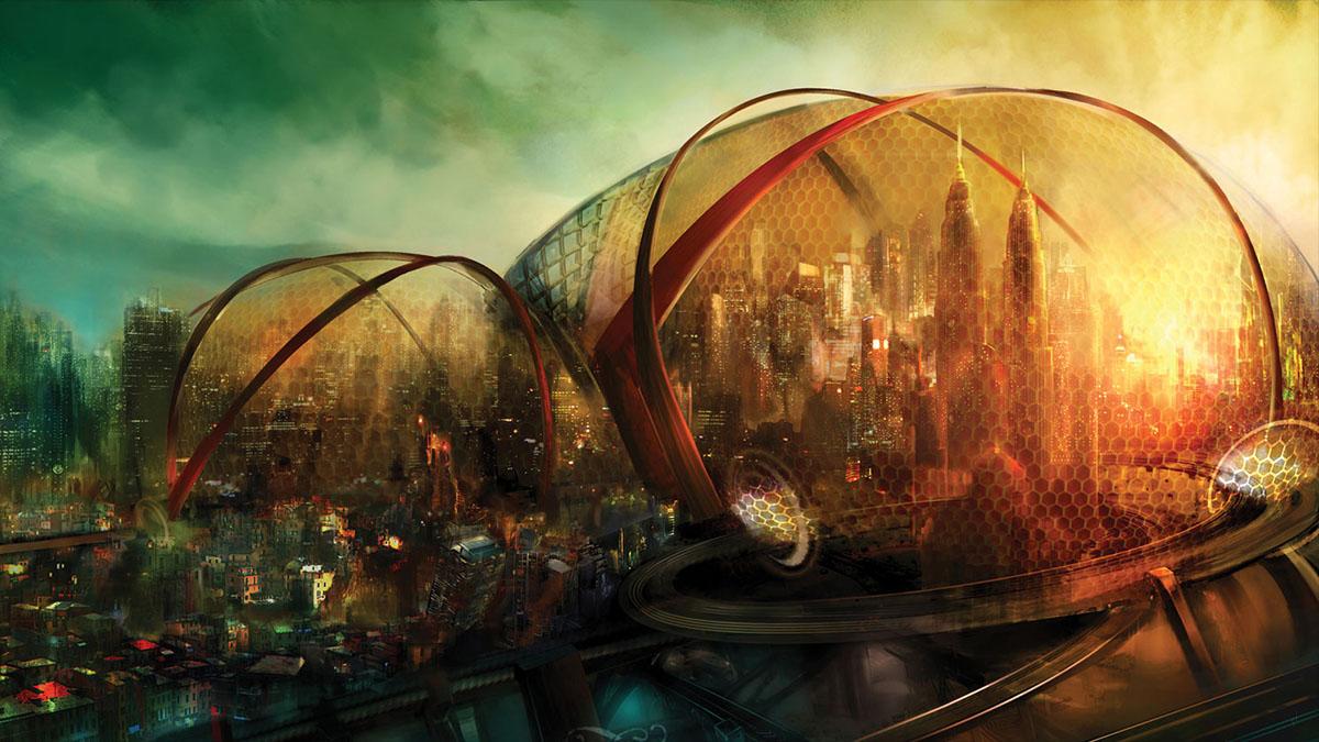 enclosed city
