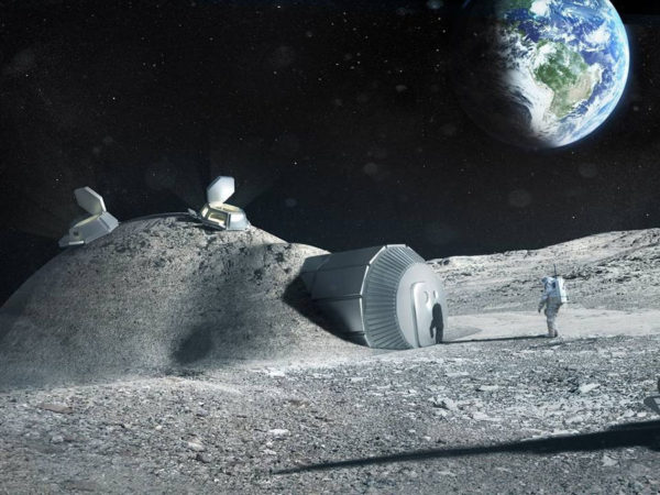 fly me to the moon and print me an outpost