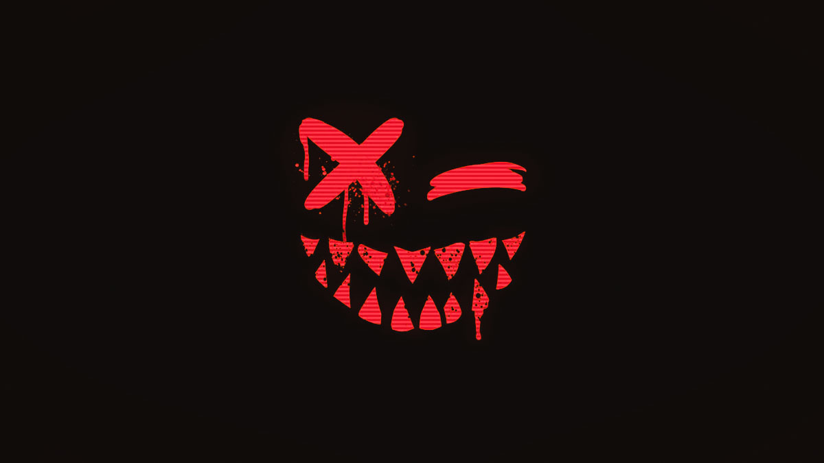 evil emoji with fangs
