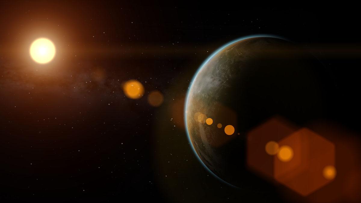 exoplanet lens flare