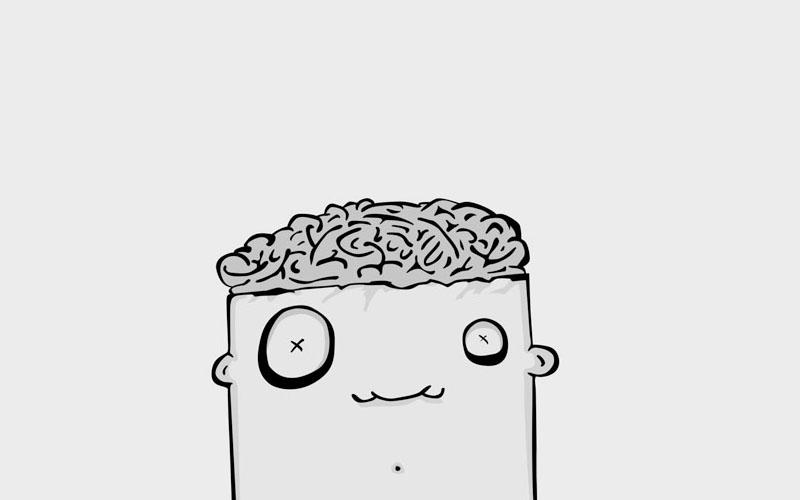 exposed brain