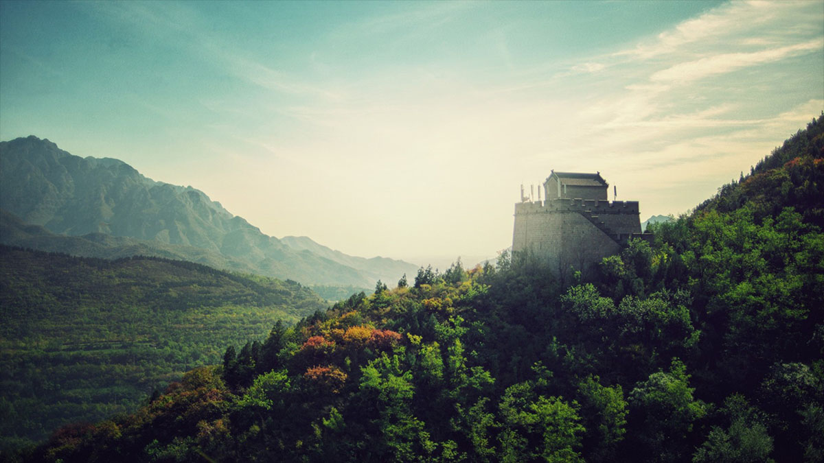 great wall of china tower