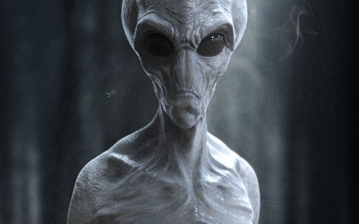 grey humanoid alien