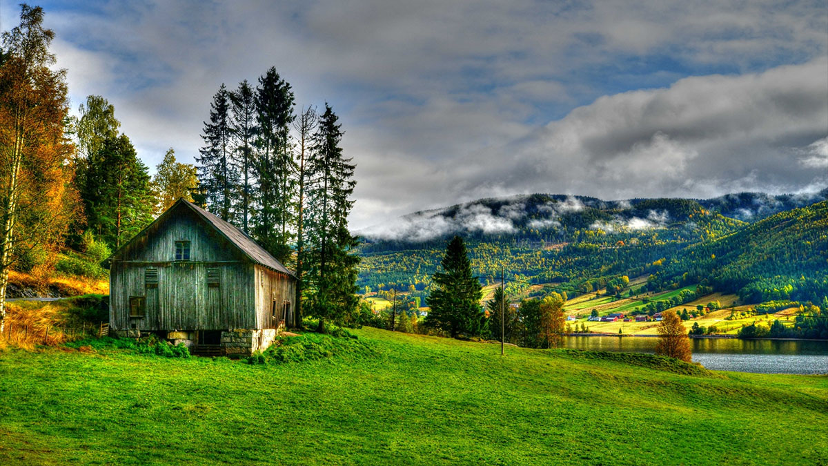hdr farmhouse