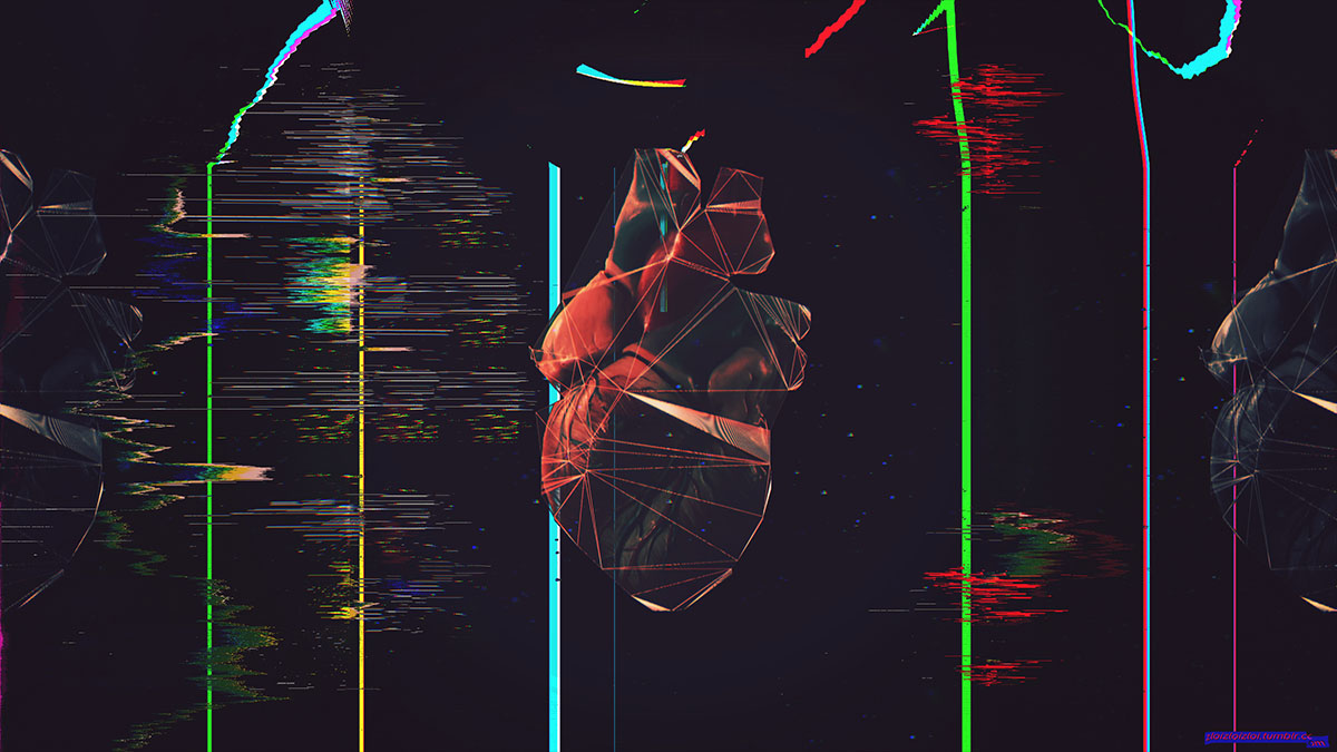 heart simulation glitch low poly