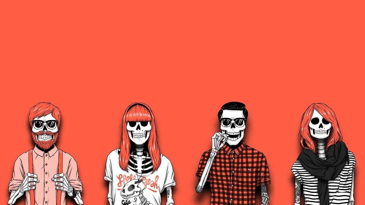 hipster skeletons
