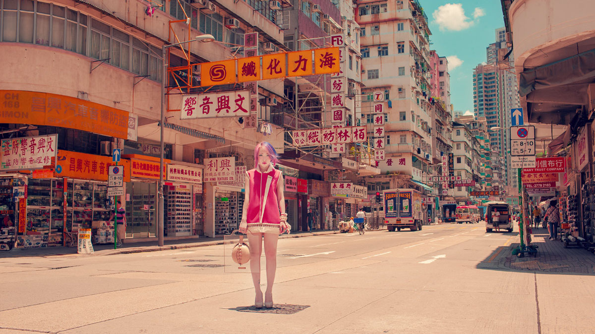 hong kong neon girl