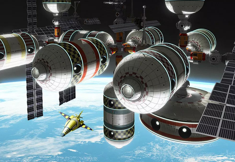 inflatable space station