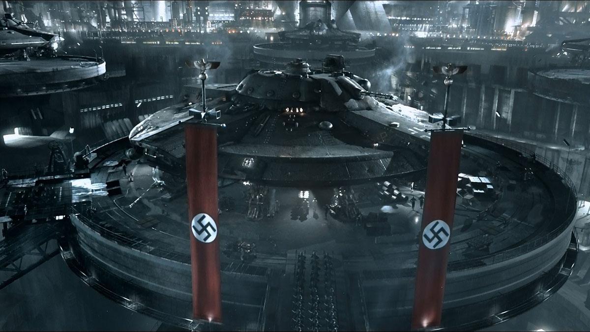screenshot from iron sky nazi moon base