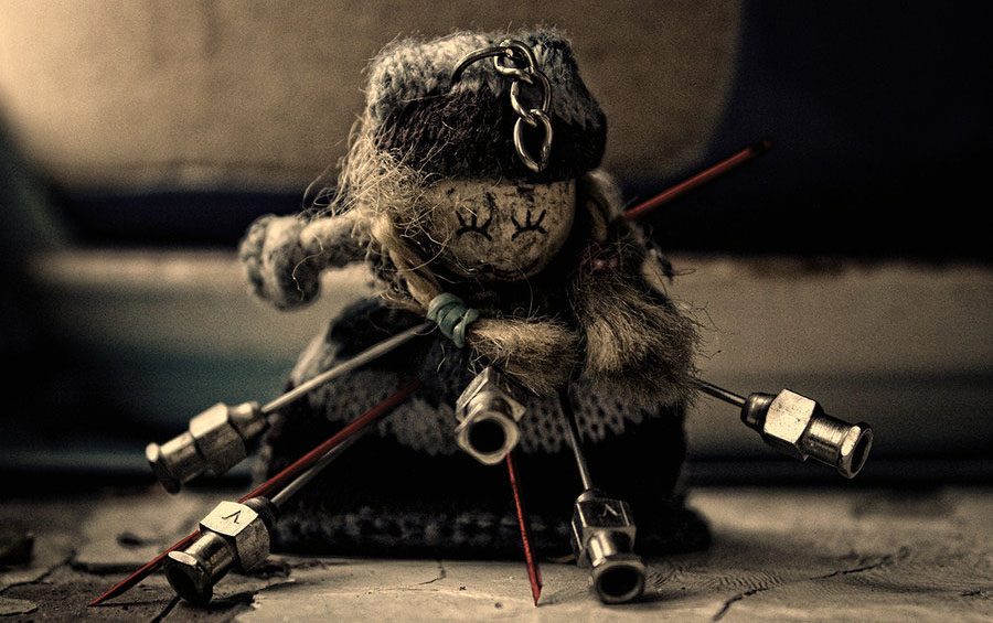 knitted voodoo doll