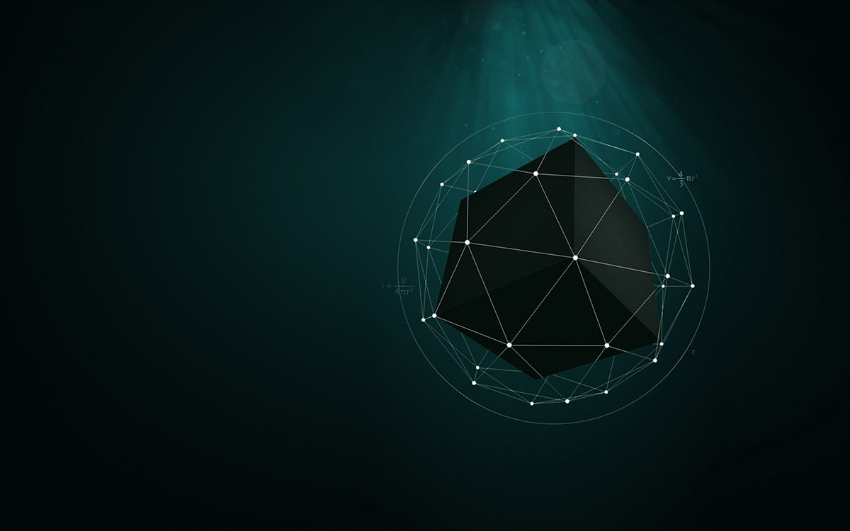 low poly particle
