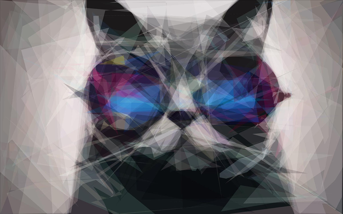 low poly-fied cat