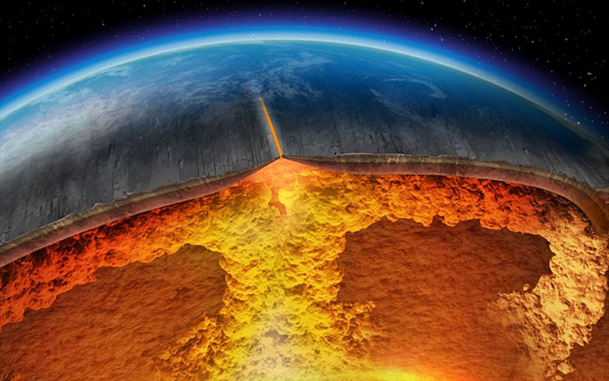 mantle convection at a hotspot