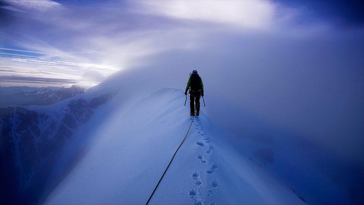 mountain climber mont blanc