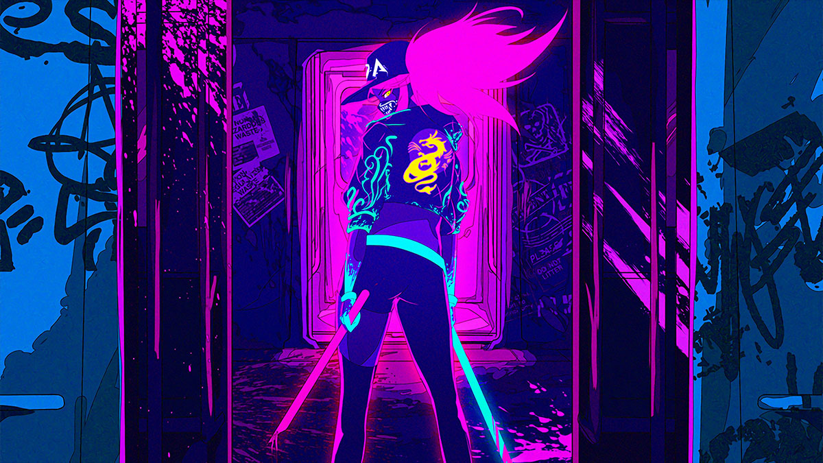 neon punk grafitti