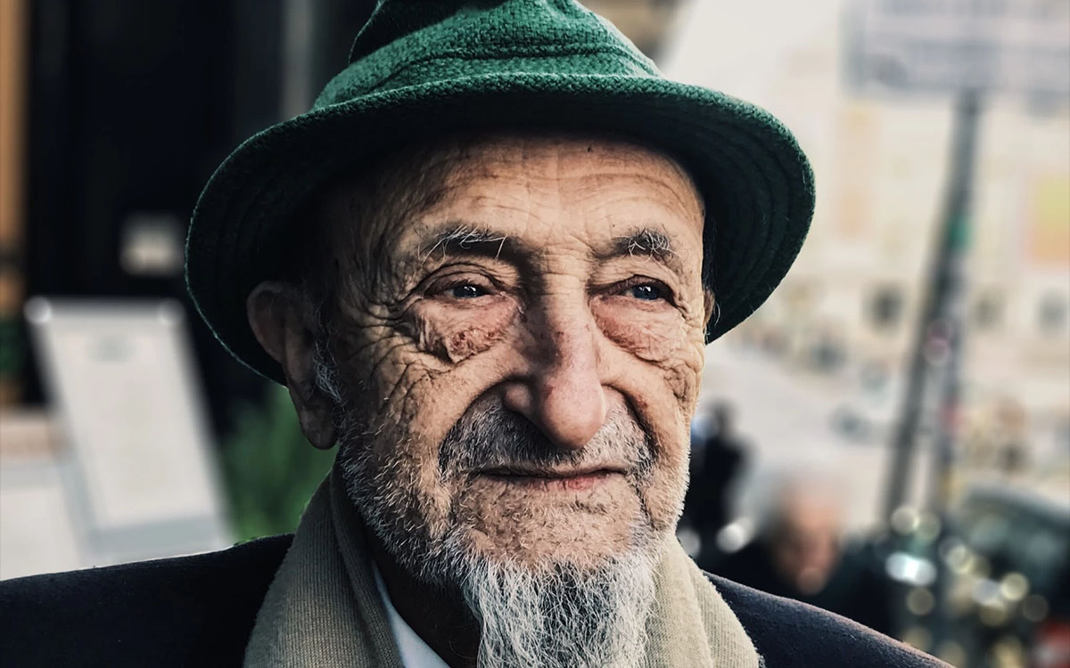 old man with gray beard