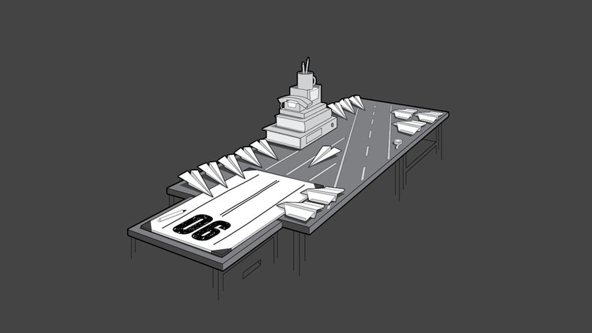 paper aircraft carrier