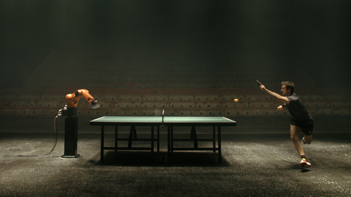 ping pong against robot