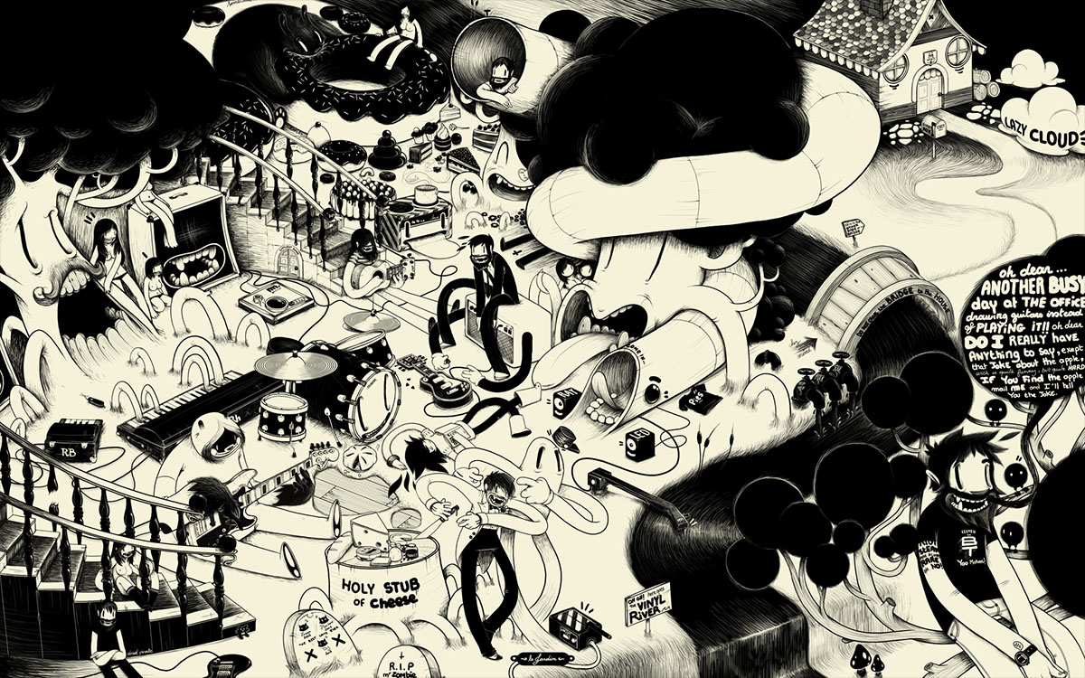 psychedelic cartoon mcbess