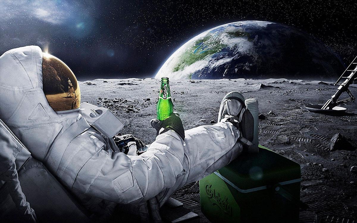 relaxing astronaut