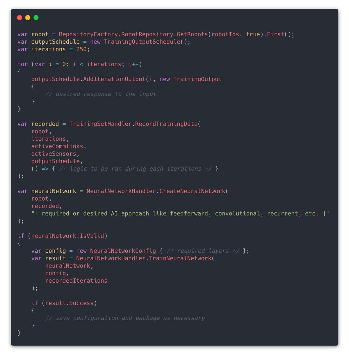rmx training code snippet