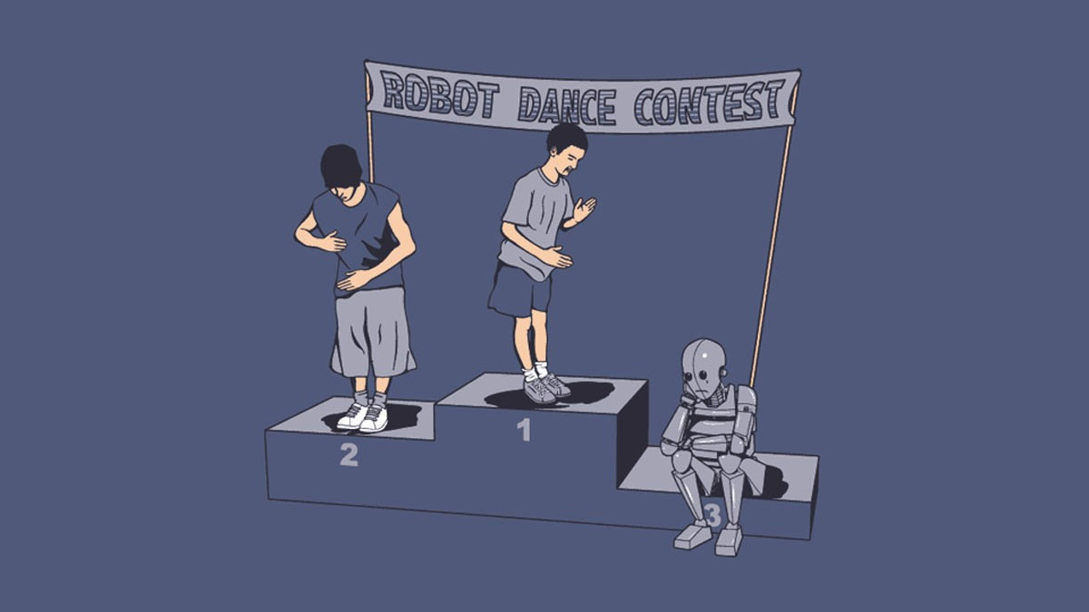 robot dance contest