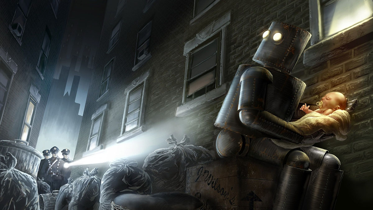 robot with baby