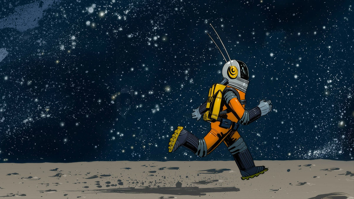 running astronaut