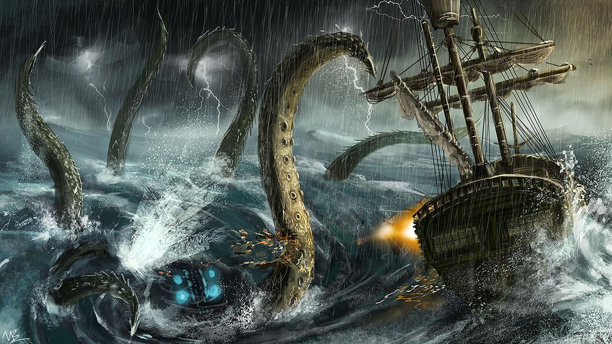 sea monster attack