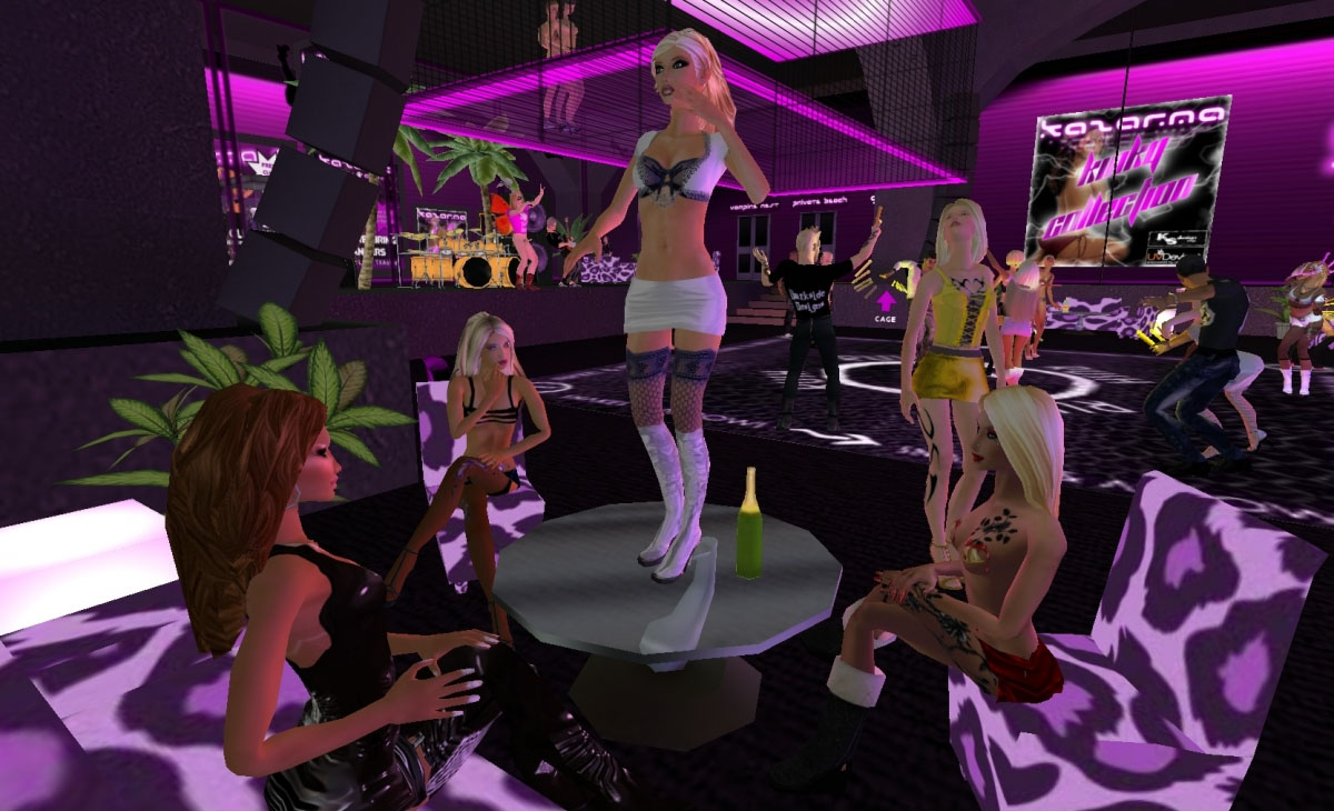 second life virtual strip club