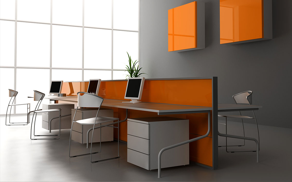 sleek office render