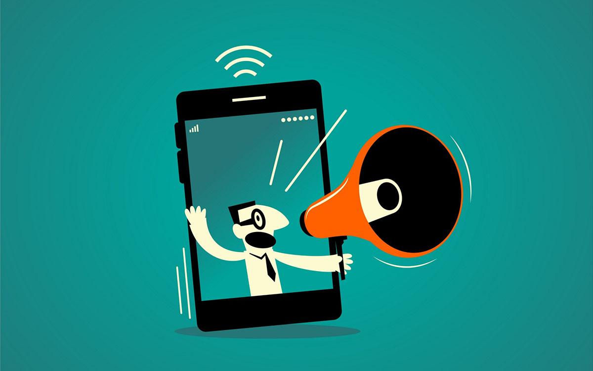smartphone megaphone