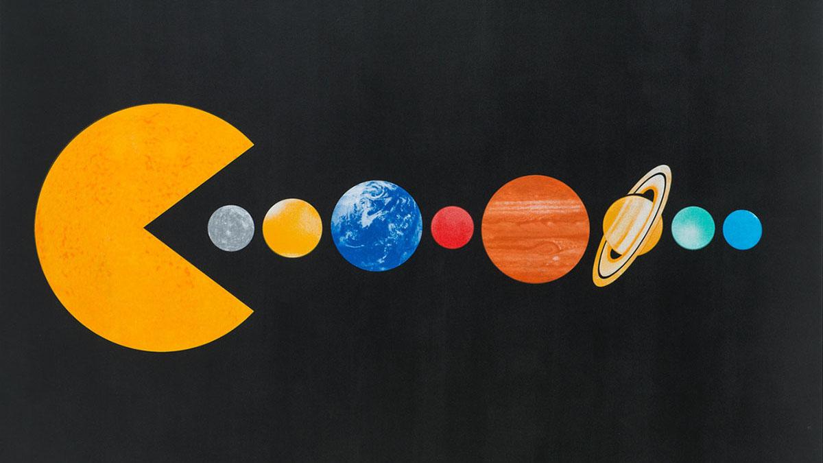solar system pac man
