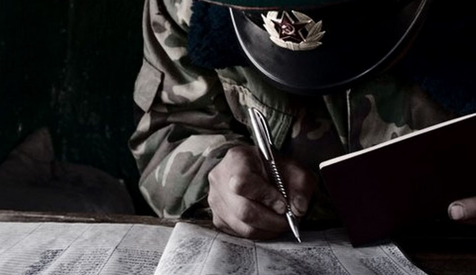 soviet soldier writing