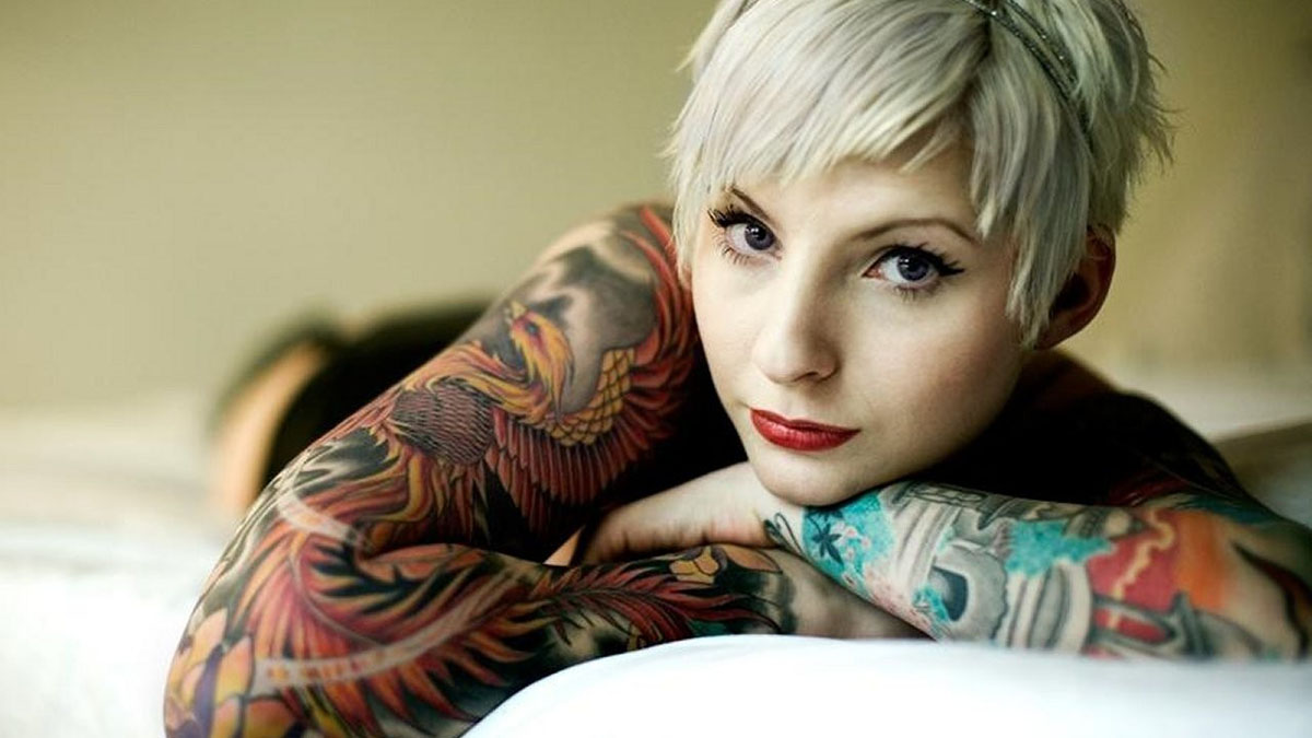 tattooed pixie model