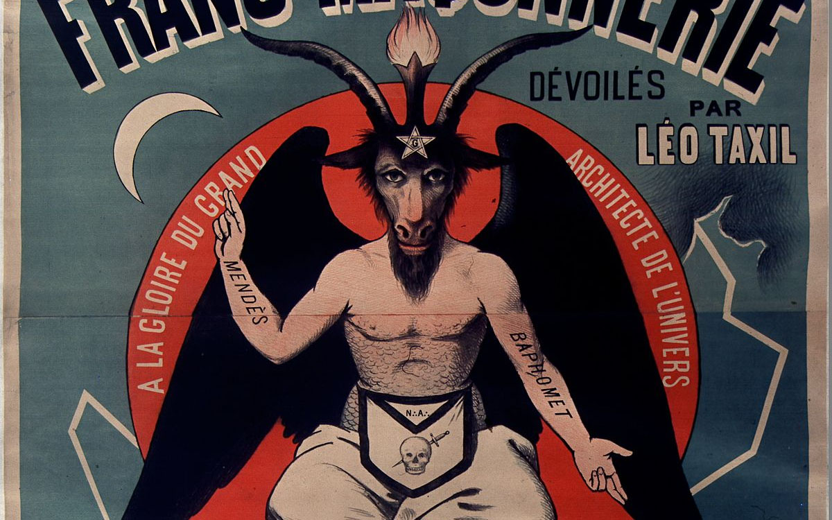 poster promoting leo taxil's satanic hoax book