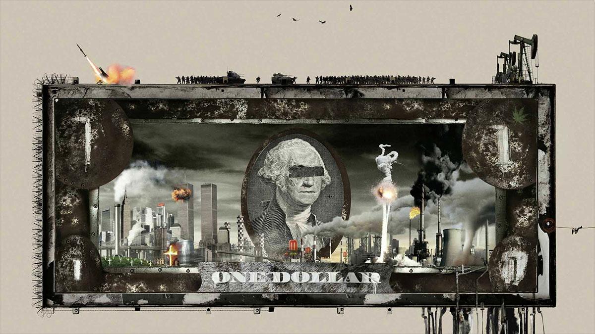 toxic capitalism collage