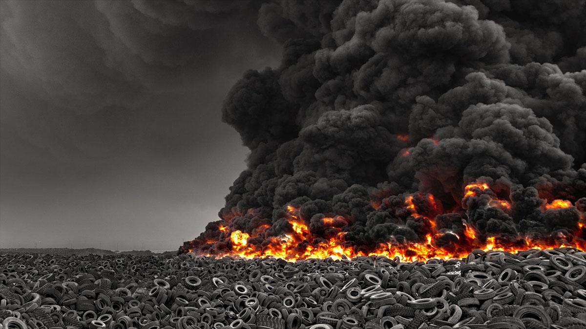 toxic tire fire